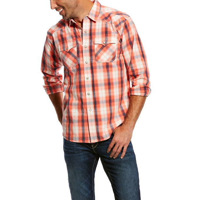 Ariat Men's Joe Retro Plaid Western Snap Shirt
