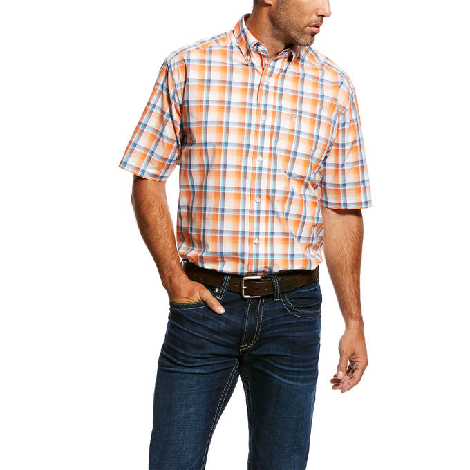 Ariat Men's Navajo Shortsleeve Plaid Western Shirt