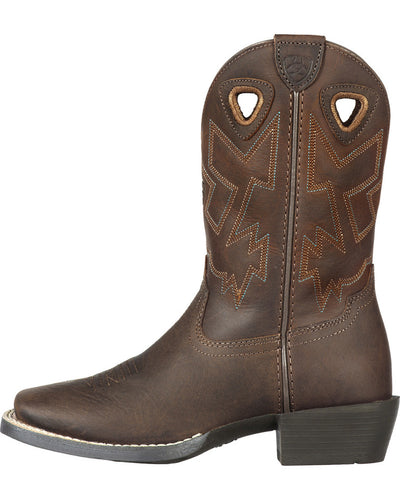 Ariat Boy's Charger Distressed Cowboy Boot