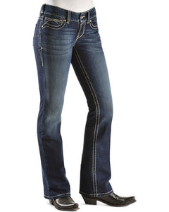 Ariat Women's R.E.A.L. Mid Rise Original Boot Cut Jean