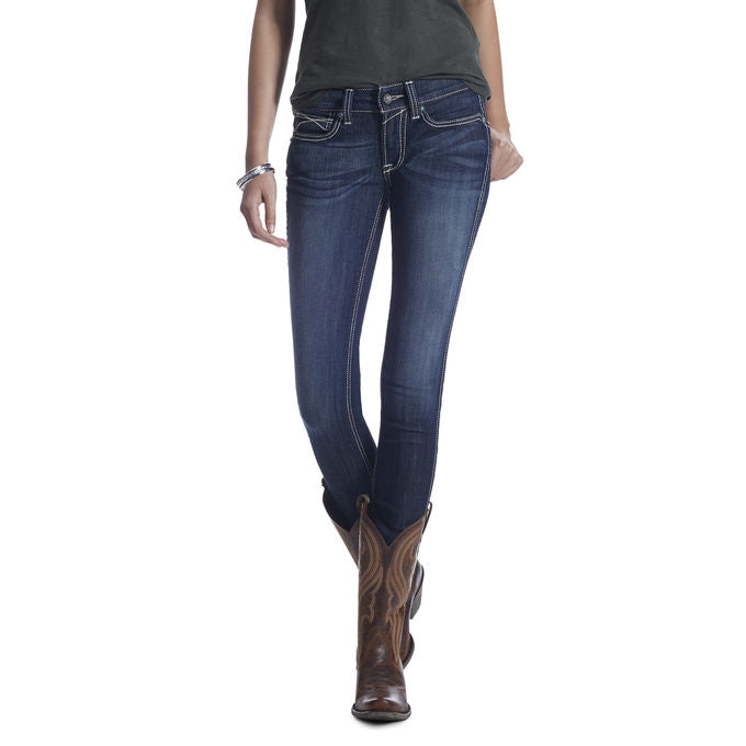 Ariat Women's R.E.A.L. Mid Rise Stretch Outseam Ella Skinny Jean
