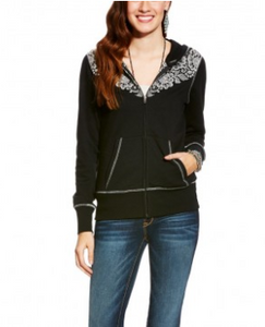 Ariat Women's Marie Lace Yoke Full Zip Hoodie