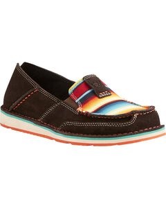 Ariat Women's Chocolate Fudge with Serape Cruiser Shoes