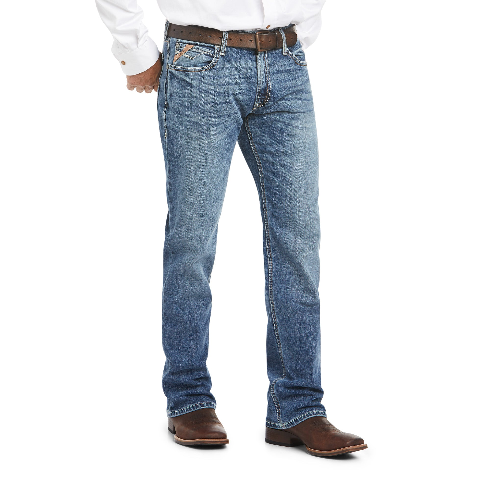 Ariat Men's M4 Low Rise Stretch Cole Boot Cut Jean