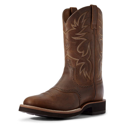 Ariat Men's Heritage Crepe Distressed Tan Western Boot