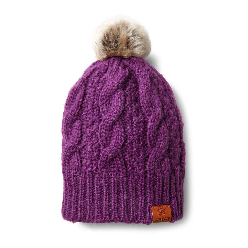 Ariat Women's Imperial Violet Cable Beanie
