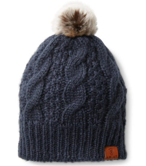 Ariat Women's Navy Cable Beanie