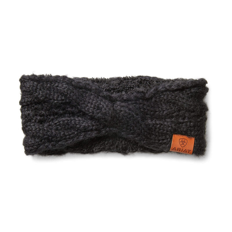 Ariat Women's Cable Headband - Black