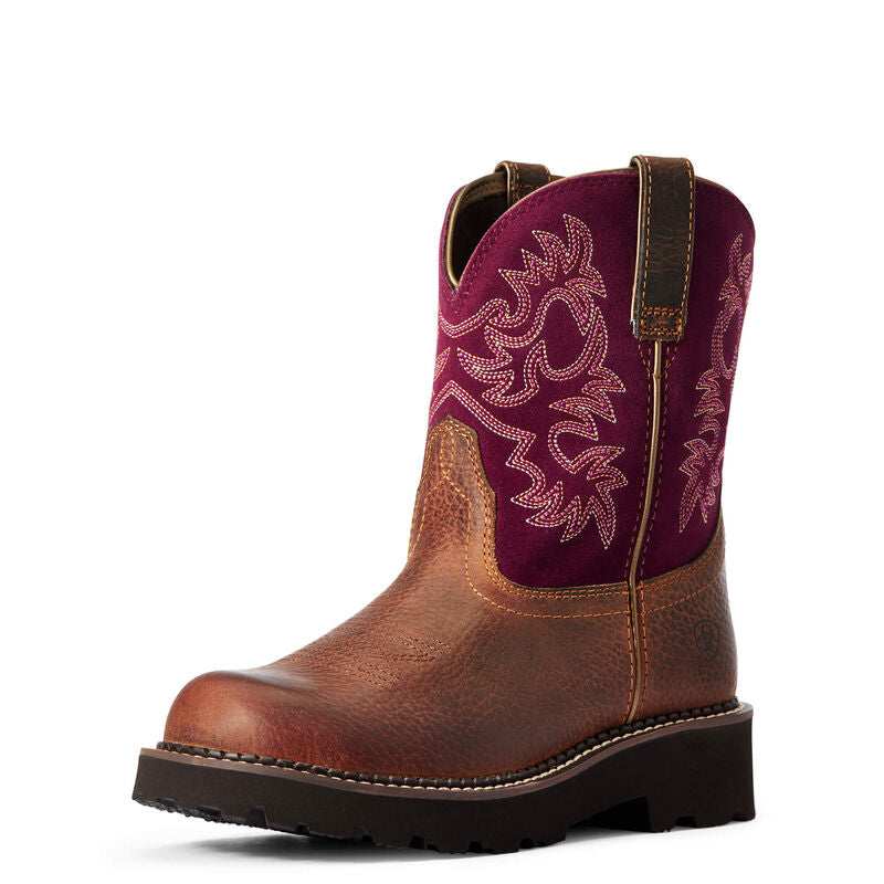 Ariat Women's Burgundy Fatbaby Western Boot