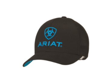 Ariat Logo Flex Fit Black Ball Cap