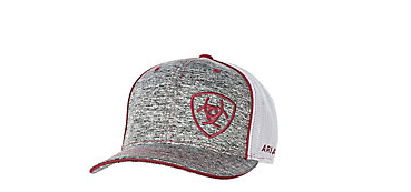 Ariat Embroidered Logo Grey & Burg Baseball Cap