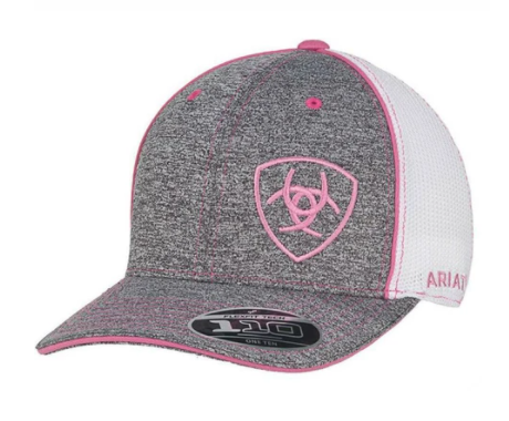 Ariat Women's Mesh Snap Back Pink Baseball Cap