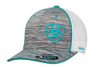 Ariat Embroidered Logo Grey & Teal Baseball Cap