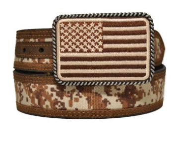 Ariat Men's Digital Camo Strap Aged Bark Overlay Belt