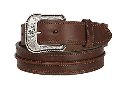 Ariat Men's Medium Brown Rowdy Center Western Belt
