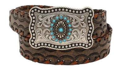 Ariat Women's Lace Stitch Leather Belt