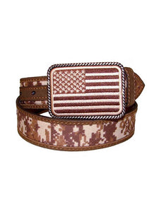 Ariat Kid's Digital Camo Strap Aged Bark Overlay Belt