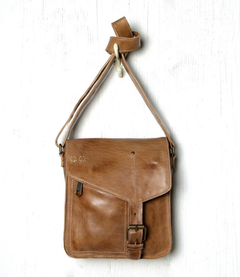 "Bed Stu ""Venice Beach"" Tan Rustic Shoulder Bag"