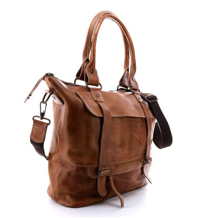 "Bed Stu ""Big Fork"" Tan Rustic Handbag"