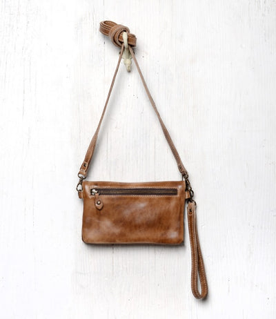 "Bed Stu ""Cadence"" Tan Rustic Crossbody"
