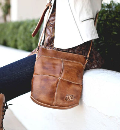"Bed Stu ""Coronado"" Tan Rustic Handbag"