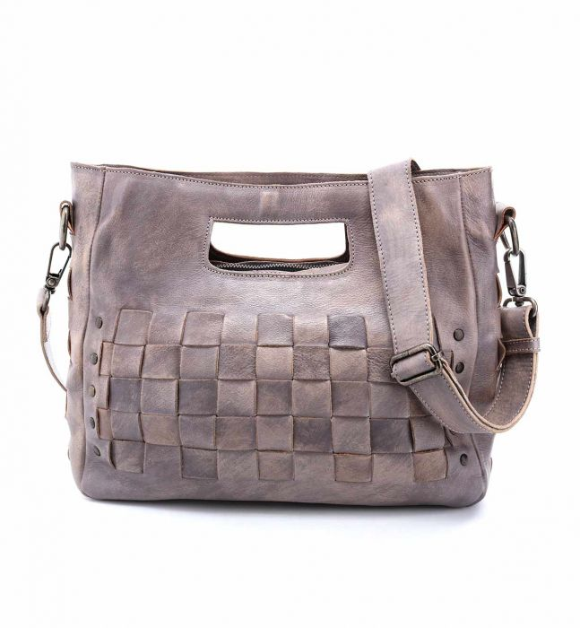 "Bed Stu ""Orchid"" Light Grey Driftwood Handbag"