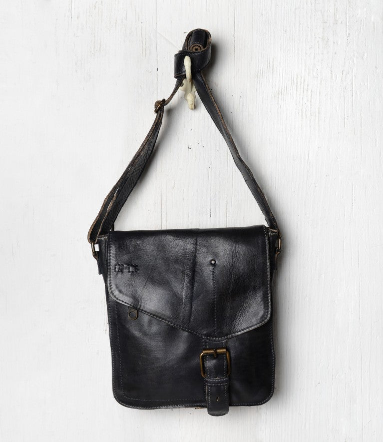 "Bed Stu ""Venice Beach"" Black Rustic Shoulder Bag"