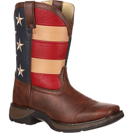Durango Little Kid Patriotic Western Flag Boot
