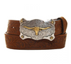 Justin Boys Little Texas Aged Bark Belt