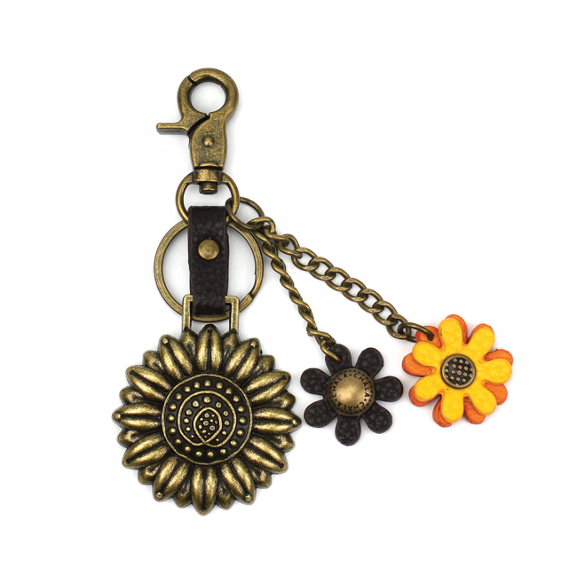 Chala Handbags Charming Key Chain - Sunflower