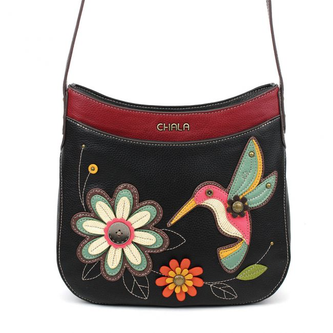Chala Handbags Hummingbird Crescent Crossbody