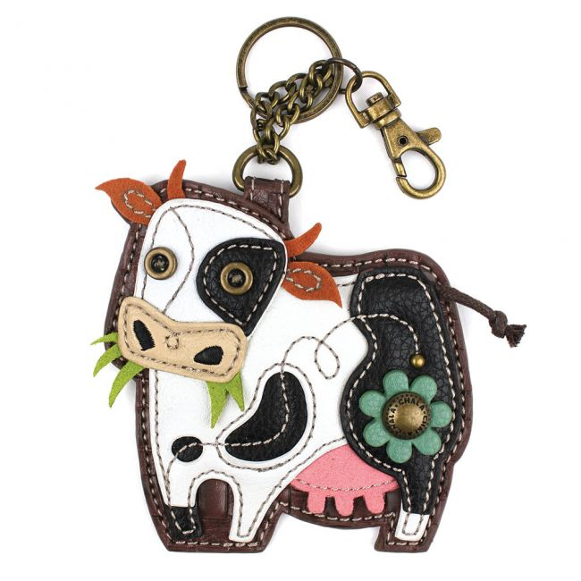Chala Handbags Cow Key Fob/Coin Purse