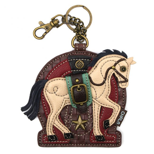 Chala Handbags Horse A Key Fob/Coin Purse