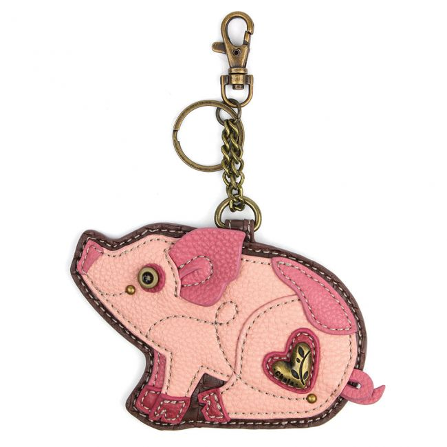 Chala Handbags Key Fob/Coin Purse - Pig