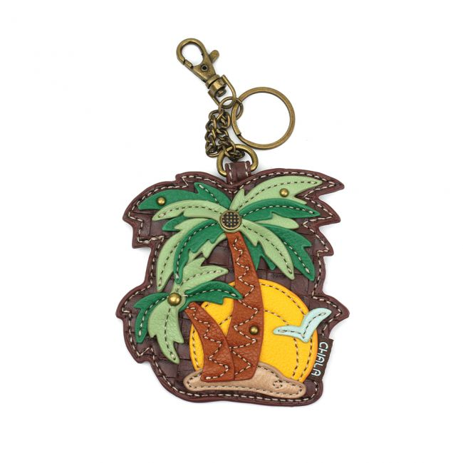 Chala Handbags Key Fob/Coin Purse - Palm Tree