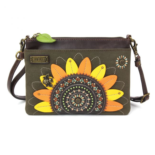 Chala Handbags Dazzled Mini Crossbody - Sunflower