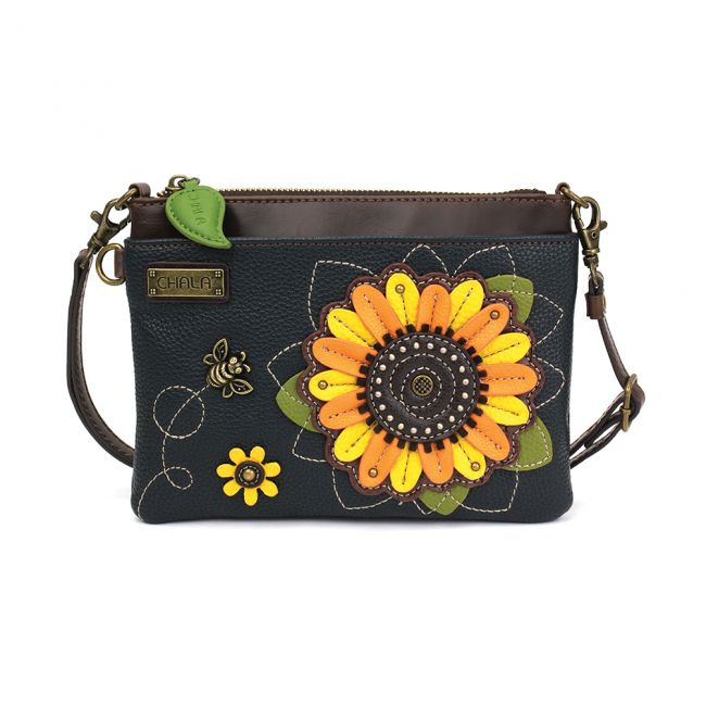 Chala Handbags Mini Crossbody - Sunflower