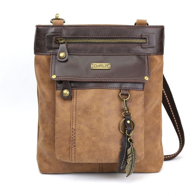 Chala Handbags Gemini Crossbody Bag - Brown