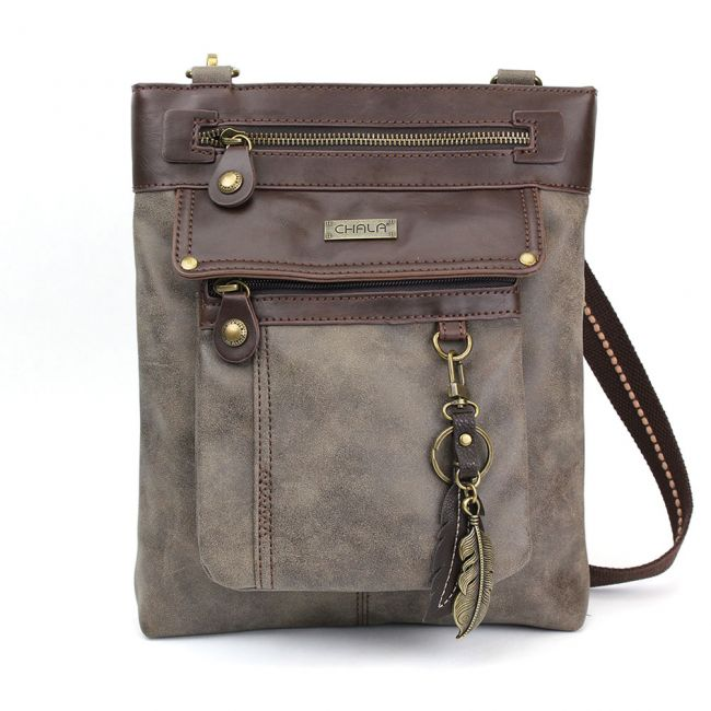 Chala Handbags Gemini Crossbody Bag - Gray
