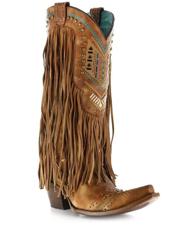 Corral Boot Women's Multi-Color Crystal & Fringe Boots