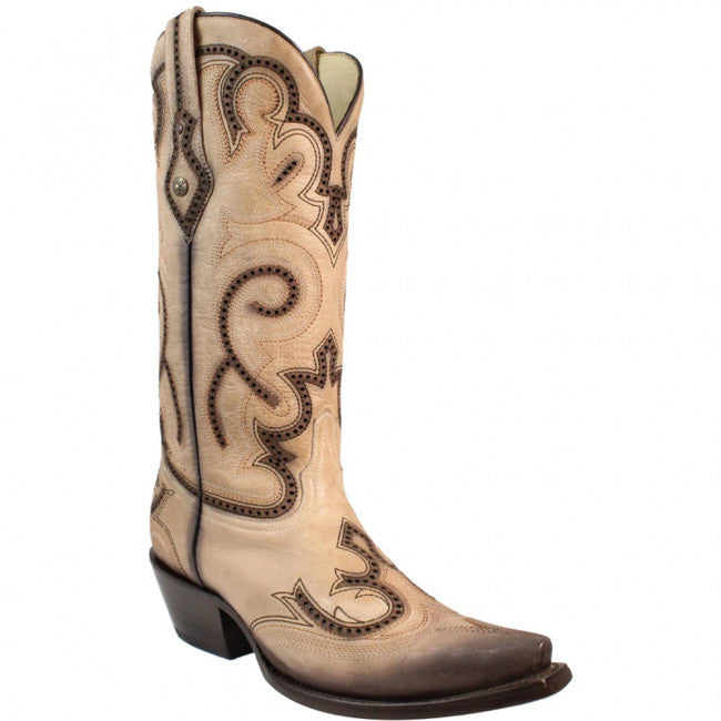 Corral Women's Embroidery & Studs Western Boot