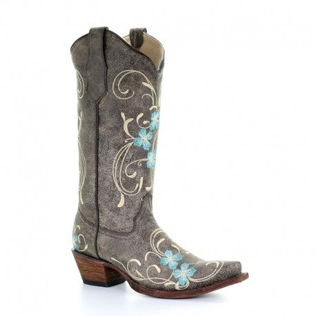 Circle G by Corral Women's Floral Embroidery Western Boots