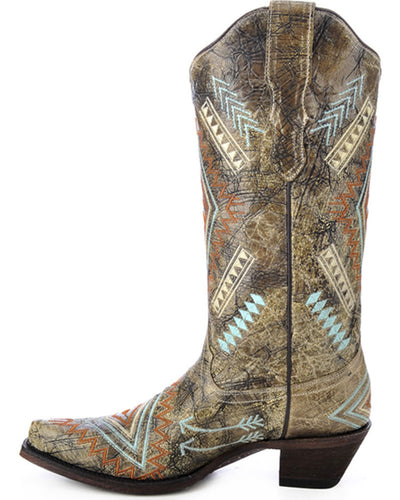 Corral Women's Diamond Embroidered Western Boot