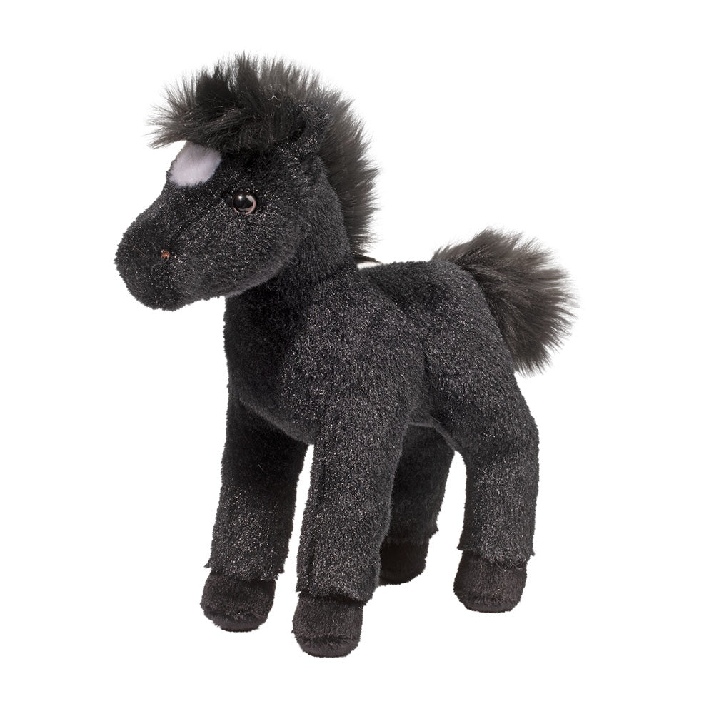 Douglas Cuddle Toy Flint Black Horse