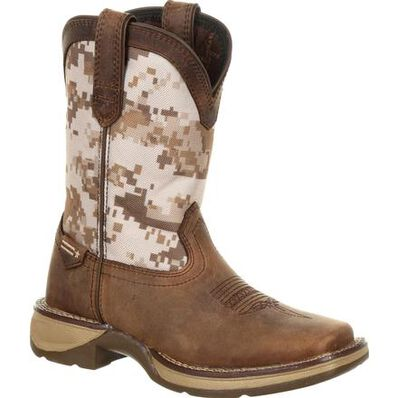 Durango Big Kids Lil' Rebel Camo Western Boot