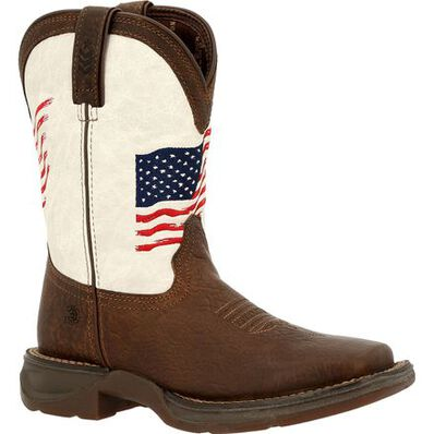 Durango Big Kid's Lil' Rebel Distressed Flag Western Boot