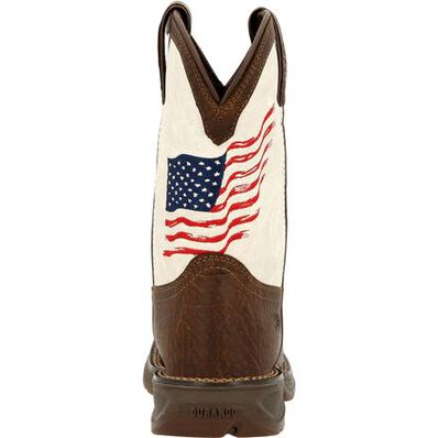 Durango Children's Lil' Rebel Distressed Flag Western Boot