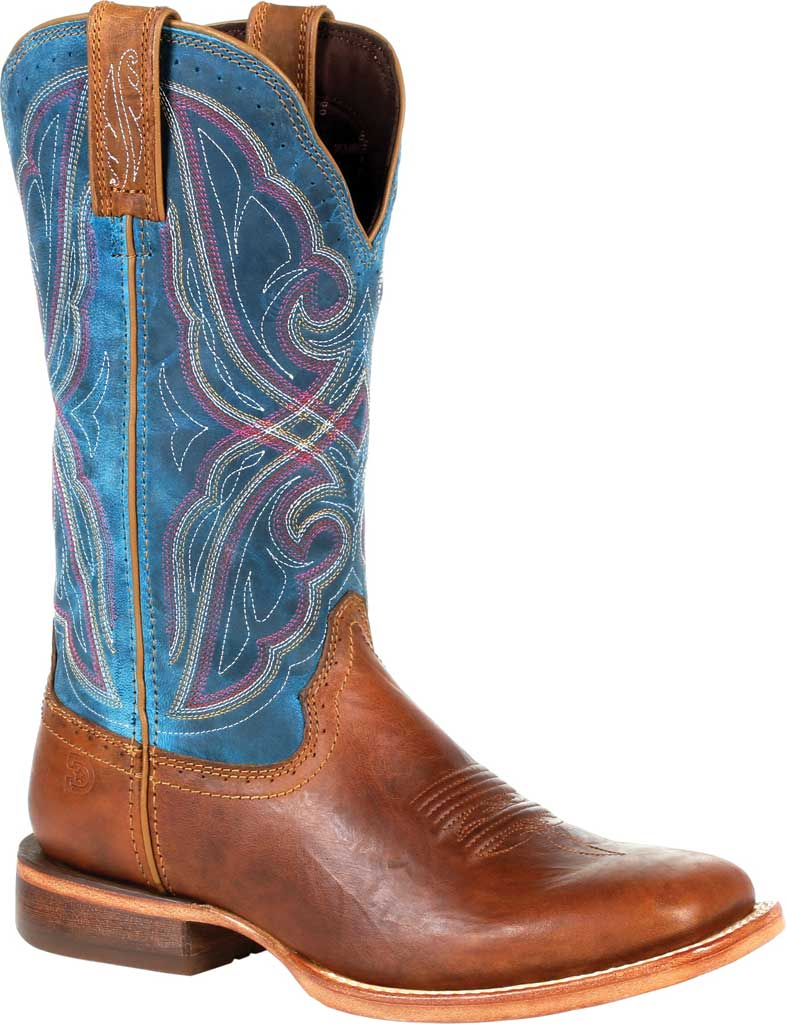 Durango Women's Arena Pro Brown Caribbean Blue Western Boot