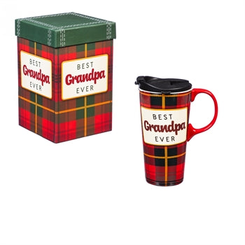 Evergreen Ceramic Travel Cup - Best Grandpa