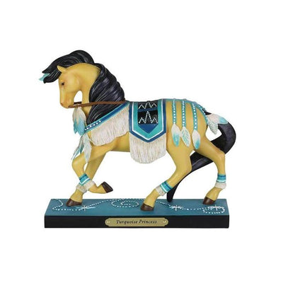 "Enesco ""Turquoise Princess"" Trail of the Painted Ponies Figurine"